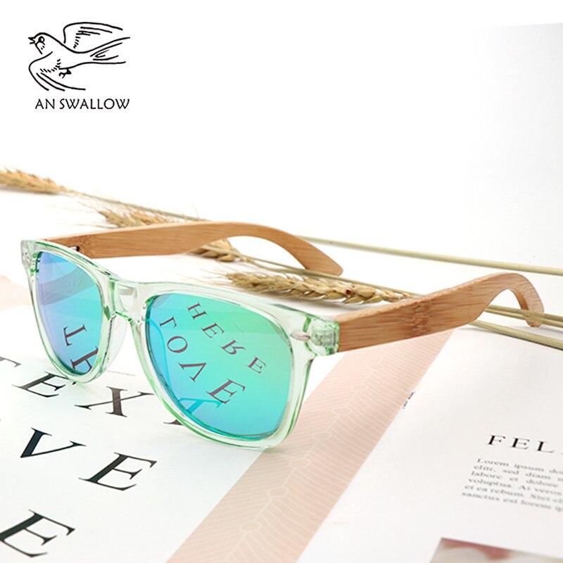 fabe11fd2e553 ... moda verde transparente caixa PC pernas de bambu de bambu de madeira.  R  41,15. (1). 3 pedidos. 2018 Zebra de madeira estilo retro óculos de sol  homens ...