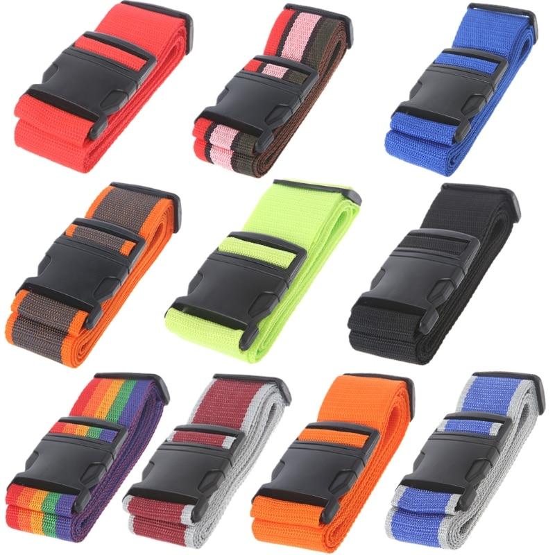 THINKTHENDO Bag Accessories Adjustable Travel Luggage Suitcase Lock Safe Belt Strap Baggage Tie Personalise Travel Accessories цена