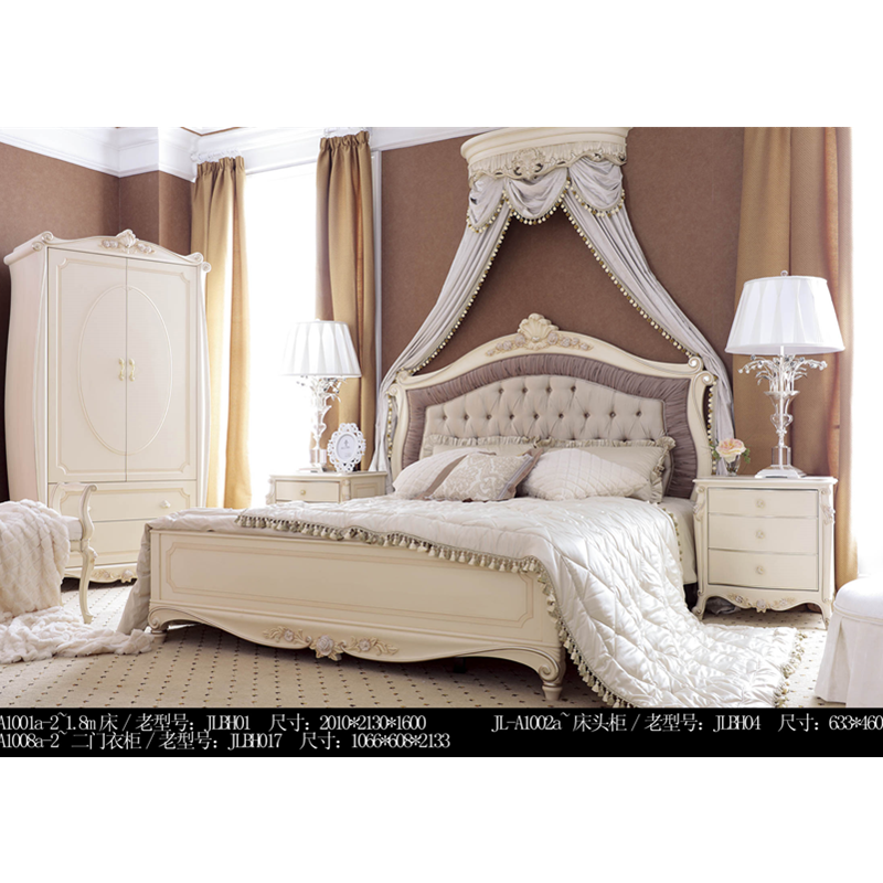 US $998.0 |Low price royal fancy bedroom furniture/ classic style bed sets  with nightstands-in Bedroom Sets from Furniture on AliExpress