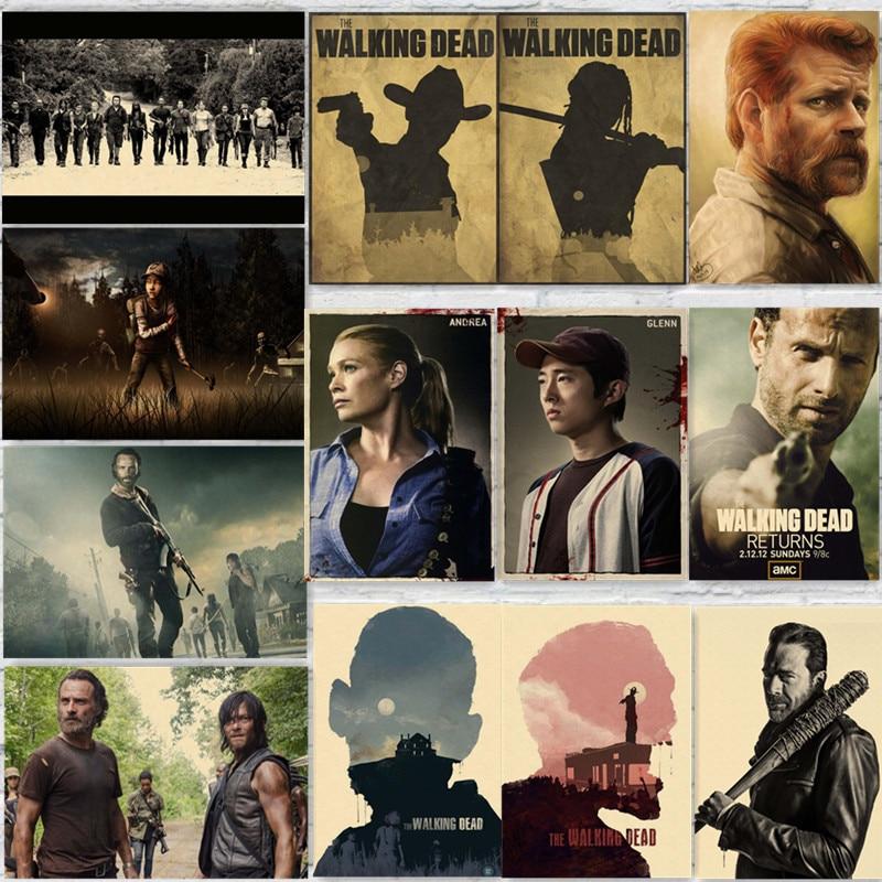 Carteles de The Walking Dead TV Show Estilo Prints Pared Decoración Del Hogar de