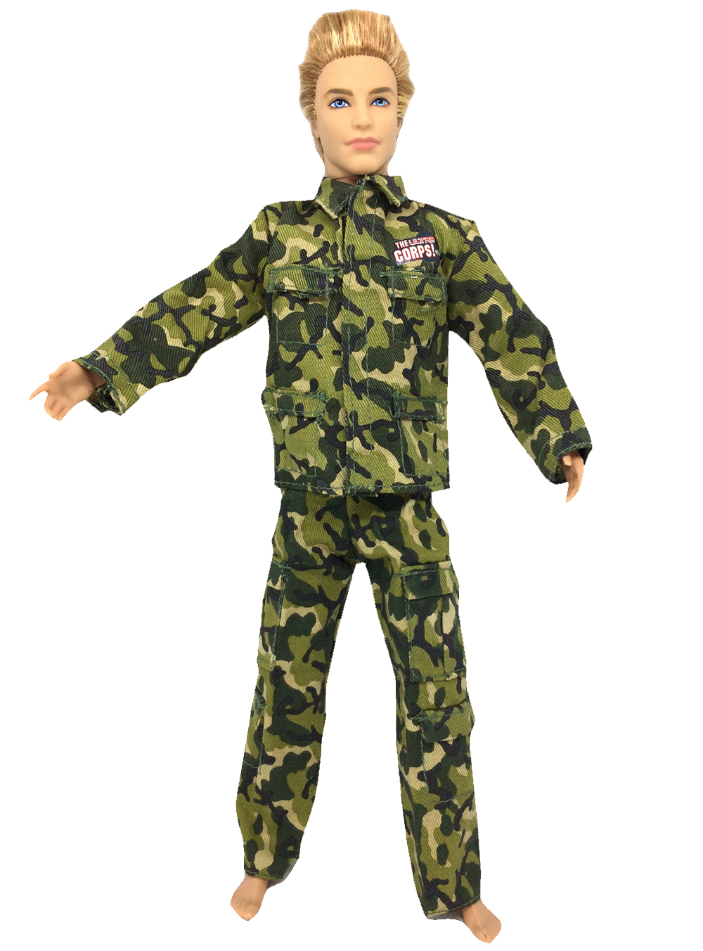 все цены на NK Original Doll Prince Clothes Army Combat Uniform Outfit For Barbie Boy Male  Ken Doll For Lanard  1/6 Soldier  Best Gift 001A онлайн