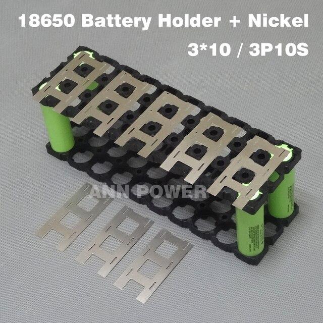 3*10 (3P10S) 18650 Pin Giá Đỡ 3P2S Niken Dây Sử Dụng Cho 36V Lithium Ion Gói 3*10 Giá Đỡ Và 3*2 Niken Dây