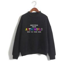 Hip Hop LUCKYFRIDAYF Travis Scotts ASTROWORLD Turtlenecks Hoodies Sweatshirts Casual Kpop Women Clothes Plus Size