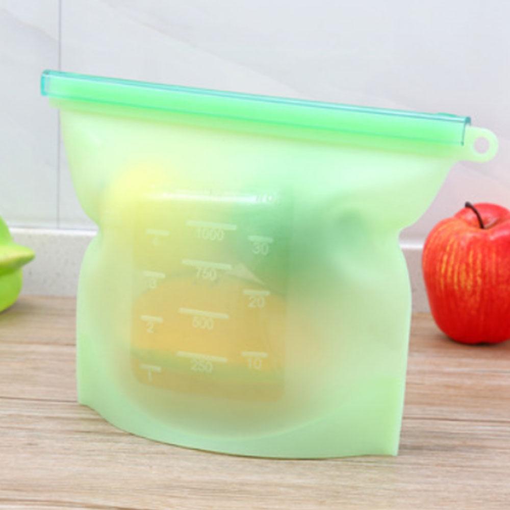 Герметичная упаковка для пищевых продуктов 17,5*23 см, силиконовые многоразовые обертывания для хранения холодильника, сохраняющие свежесть, бытовые прозрачные вакуумные пакеты - Цвет: green