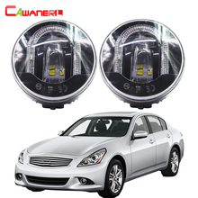 Cawanerl 2 X Car LED Fog Light DRL Daytime Running Lamp High Power For Infiniti G37