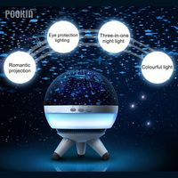 Romantic Rotating Star Projector Night Light LED Ocean Wave Projector Three In One Sky Star USB Lamp Lighting