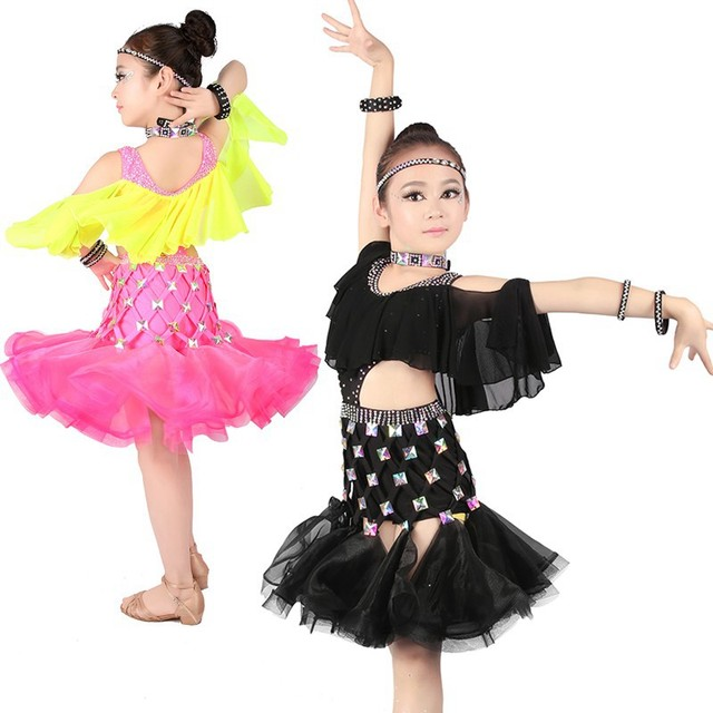 779b461d24bf Professional Dancer Ballroom Latin Competition Costumes Bling Latino ...