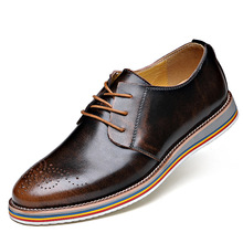 Free shipping 2016 new men's British Bullock carved leather shoes business casual shoes