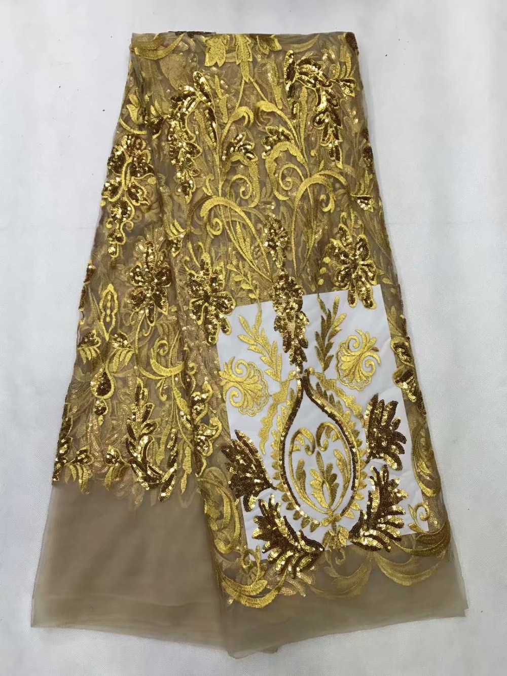 Die Neueste Heißer Verkäufer Kleid Kann Verwendet Werden Für Verschiedene Gelegenheiten, Schöne Swan Stickerei Afrikanische High-grade Spitze Pailletten Spitze Fa Um Jeden Preis