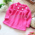 Free shipping Retail new 2013 spring autumn kids clothes girl sweater pullover baby knitted sweater skirt top baby outerwear