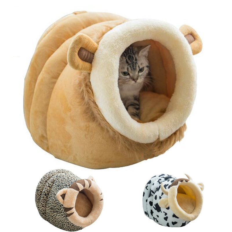 Winter Warm Cat Cave House Pet Bed Pet Dog House Lovely Soft Suitable Pet Cushion Cat Bed House Dog Sleeping Nest Kennel
