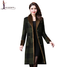Large size Autumn Women Wool Coat 2018 New Woolen Long Paragraph Solid Color Cashmere M-4XL Thick O239