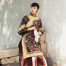 China Qing Dynasty Womens  Clothes Traditional Chinese Old-fashioned Dress Miss Lady Performing Dresses High End Hanfu Apparel