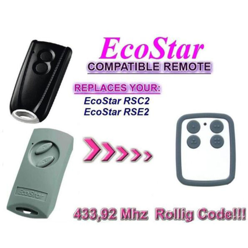 Garage Door Remote Control Compatible with Hormann Ecostar RSE2 Handsender 433 Mhz rolling code
