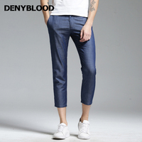 Denyblood Jeans 2017 Summer Mens Light Weight Tencel Denim Jeans Pants High Quality Slim Straight Trousers