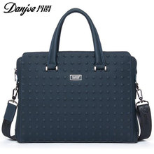 2016 DANJUE British Style For 14 Laptop Fashion Transverse Shoulder Bags High Quality Genuine Cowhide Solid