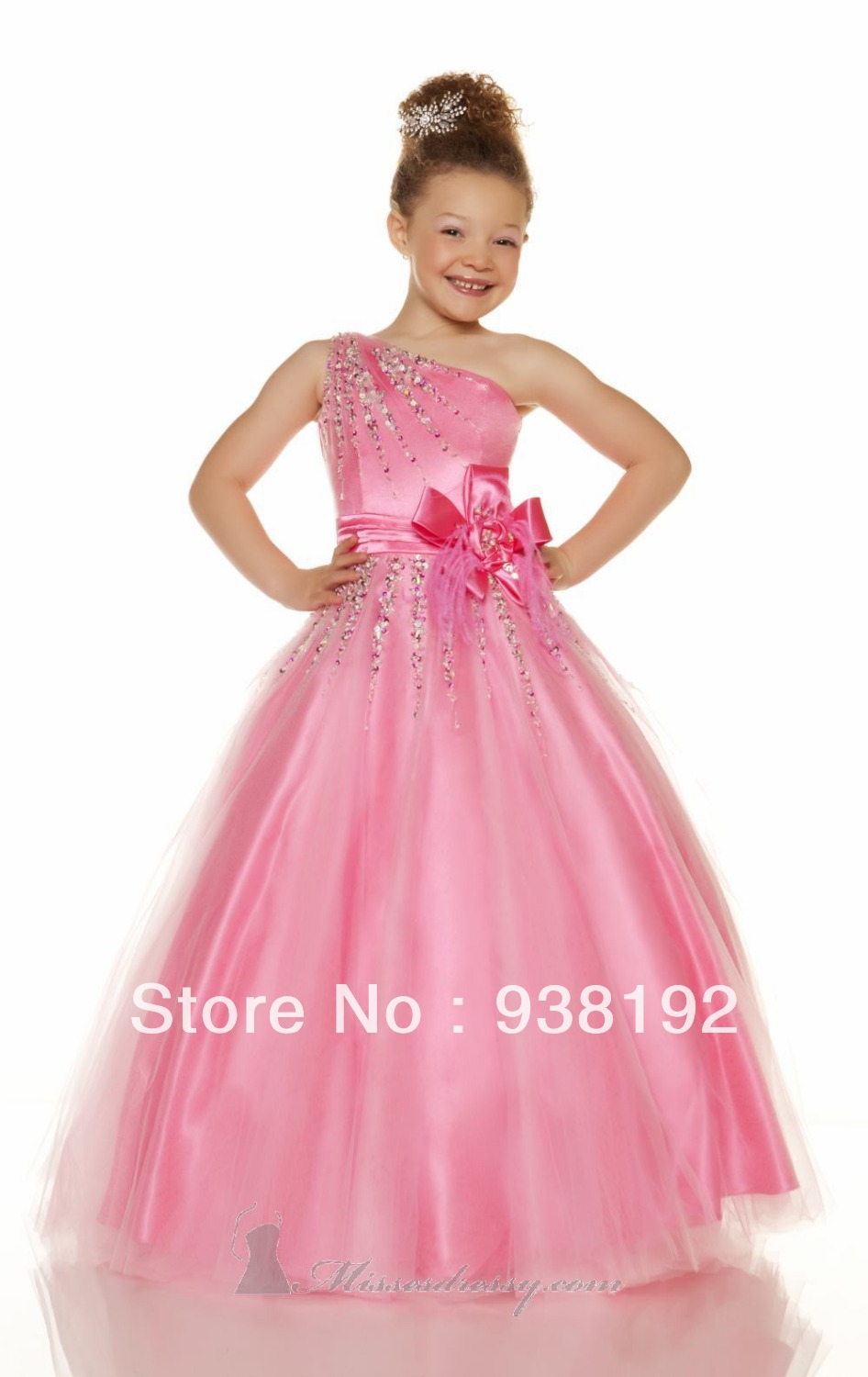 a9cc0880b Flower Girl Dresses Macys Party Dress Girls Pageant Formal Weddings  Scalloped One Shoulder Sleeveless Crystal 2015 Free Shipping