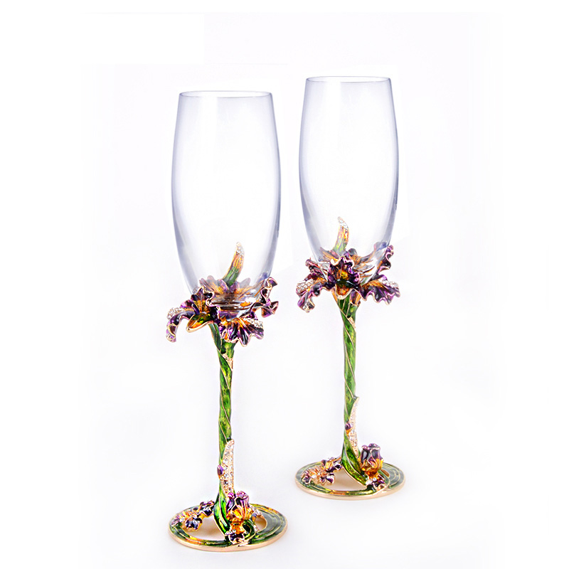 Personalized Custom 2pcs Lot Wedding Wine Glasses For Love Crystal Champagne Flutes Toasting