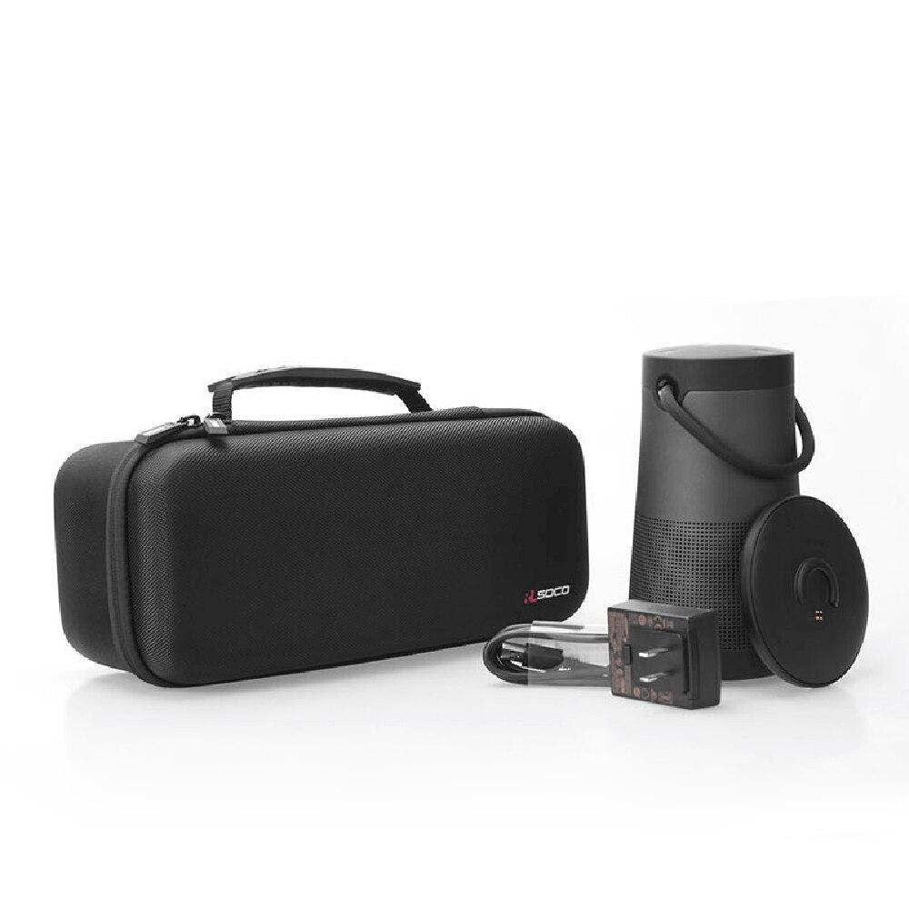 Étui de protection de voyage EVA le Plus récent pour Bose Soundlink Revolve + Plus étui de couverture de sac de haut-parleur Bluetooth espace supplémentaire pour prise et câble