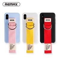 Remax милый ремешок телефон чехол для iPhone 7 Plus 8 8 плюс Корея телефона Coque принципиально для Iphone X задняя крышка корпуса PC Материал