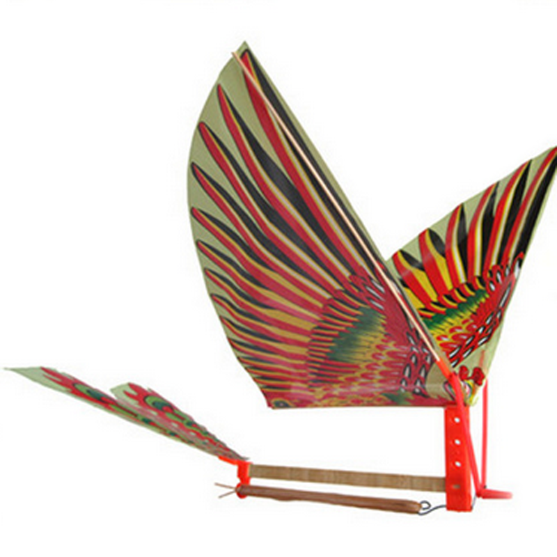 1pc DIY Rubber Band Power Handmade Bionic Air Plane Ornithopter Birds Models Science Kite Toys for Children Adults Assembly Gift