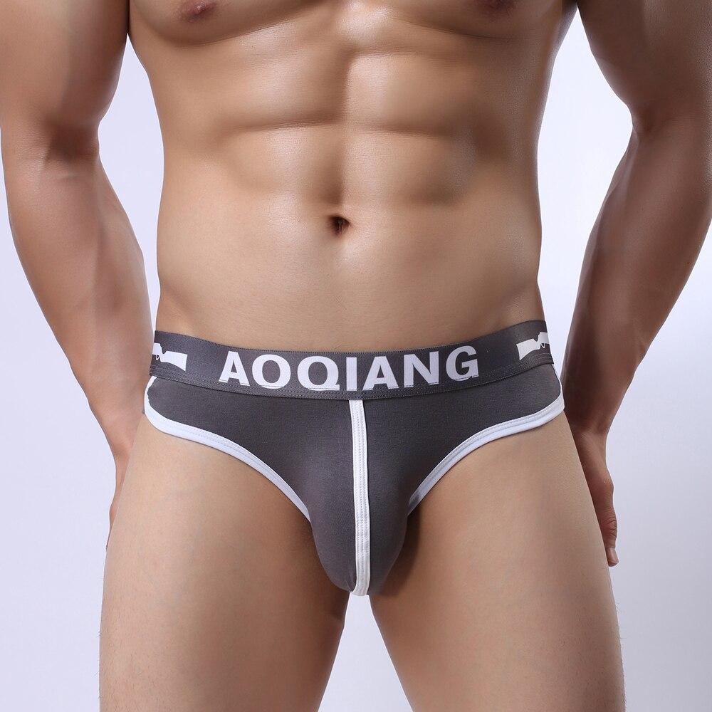 Man Underwear Briefs Shorts Cueca Gay Underwear Wonderjock Mens Bikini Brief Cotton Sexy Men Underwear U Convex Big Penis Pouch