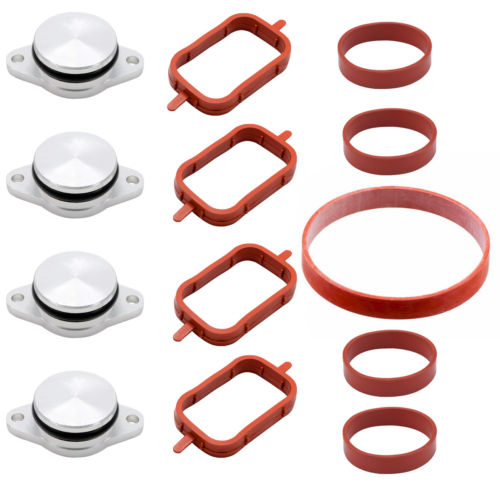 Cyl. Head & Valve Cover Gasket 4pcs 22mm Diesel Swirl Flap Blanks Replacement Bungs For Bmw 320d 330d 520d 525d 530d High Quality Aluminum Material