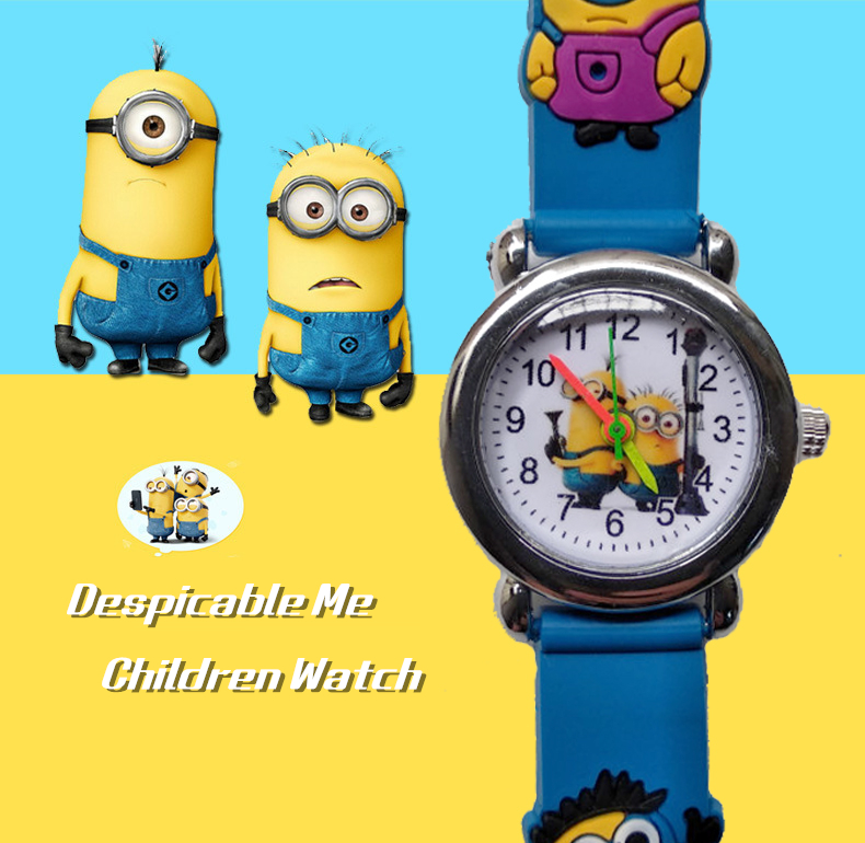 2019 New Fashion Despicable Me Watch For Children Girls Digital 3d Eye Man Watches For Kids Boys Clock Child Baby Christmas Gift