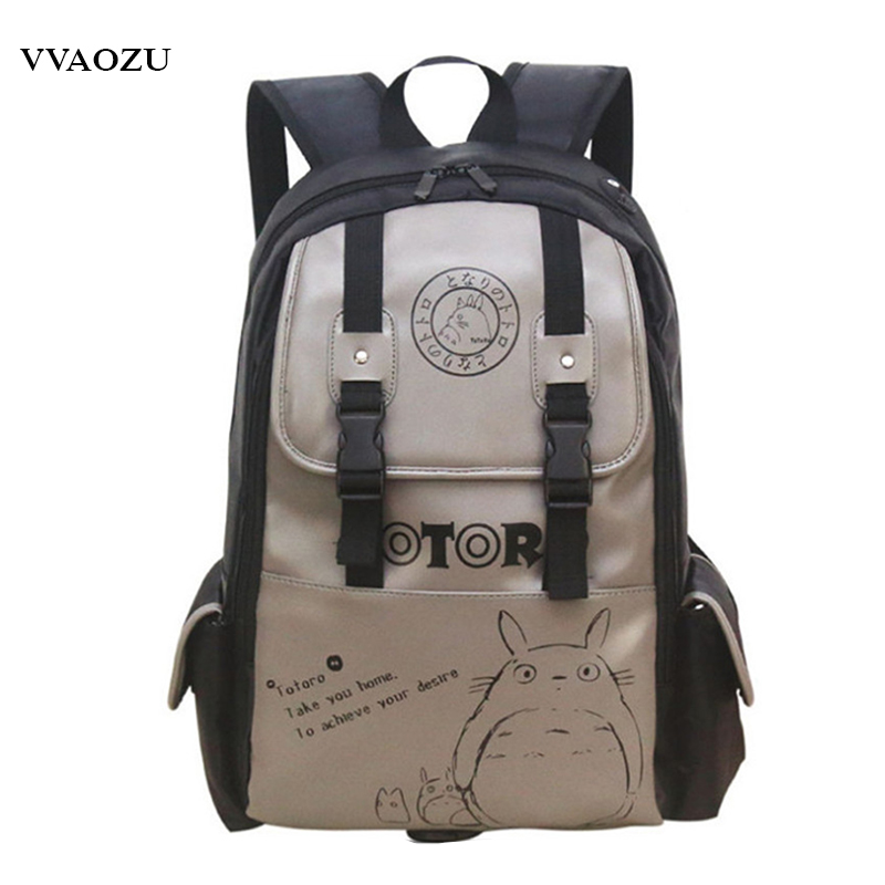 Penghantaran Percuma Miyazaki Hayao Totoro Shoulder Bag Backpack Cartoon Anime Cosplay Schoolbag Laptop Bags Rucksack