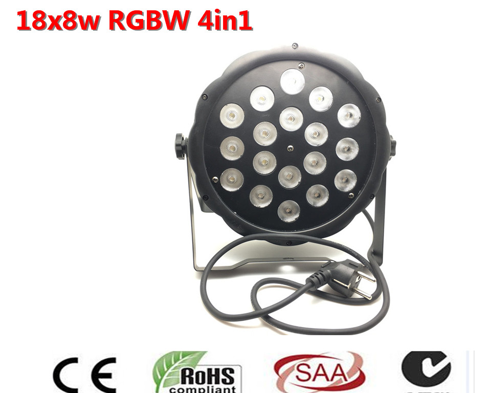 все цены на Luces LED Par RGBW 4IN1 Delgado Led Par DMX 512 8 Canales de Luz de Haz 40 Grados AC110V-240V Latas de la Igualdad онлайн