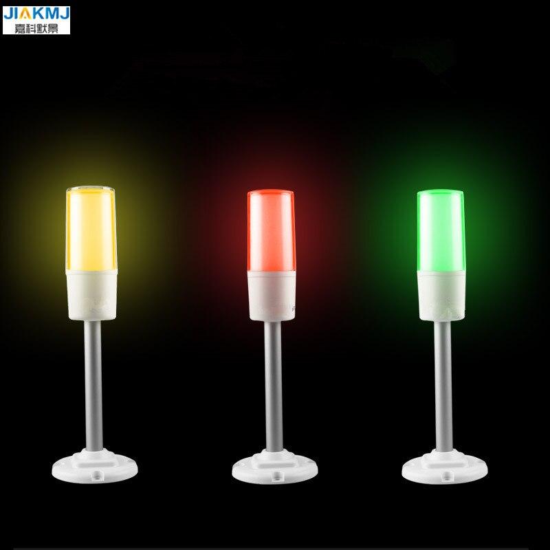 New Led Three-Color Signal Indicator Lamp 24V 3 Color in 1 layer Smart Warning Light For CNC Machine Alarm Fold/Rod Optional цена