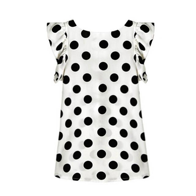 Casual Chiffon Short Sleeve Blouse for Women