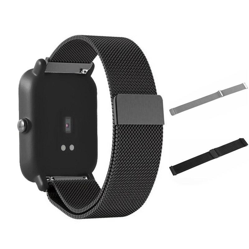 Smart Cinturino Loop Magnetico In Acciaio Inox Cinturino di Vigilanza Orologi Fascia di Ricambio Per Xiaomi Huami Amazfit Gioventù Bit GDeals