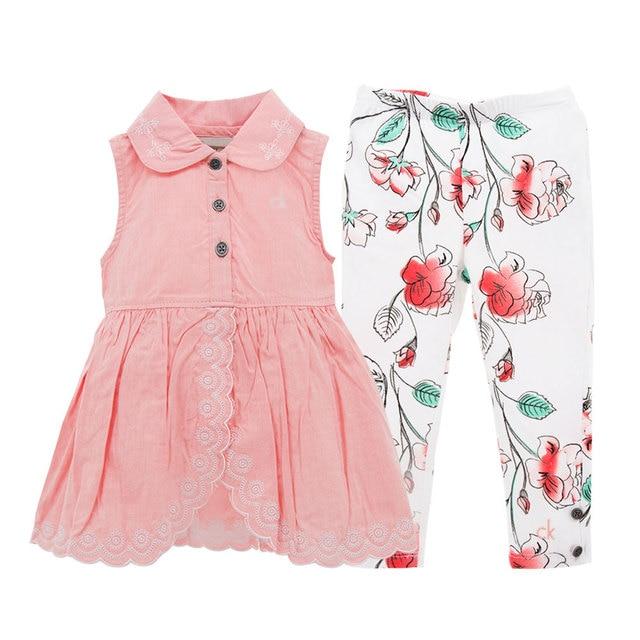 new concept 92aa1 461f4 2019 Baby Mädchen Kleidung Set Kleid Und Hosen Nette Design Sommer  Geburtstag Geschenk Kinder Prinzessin