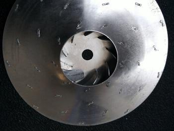 vacuum cleaner parts motor fan wheel aluminium impeller diameter 112mm 8mm hole