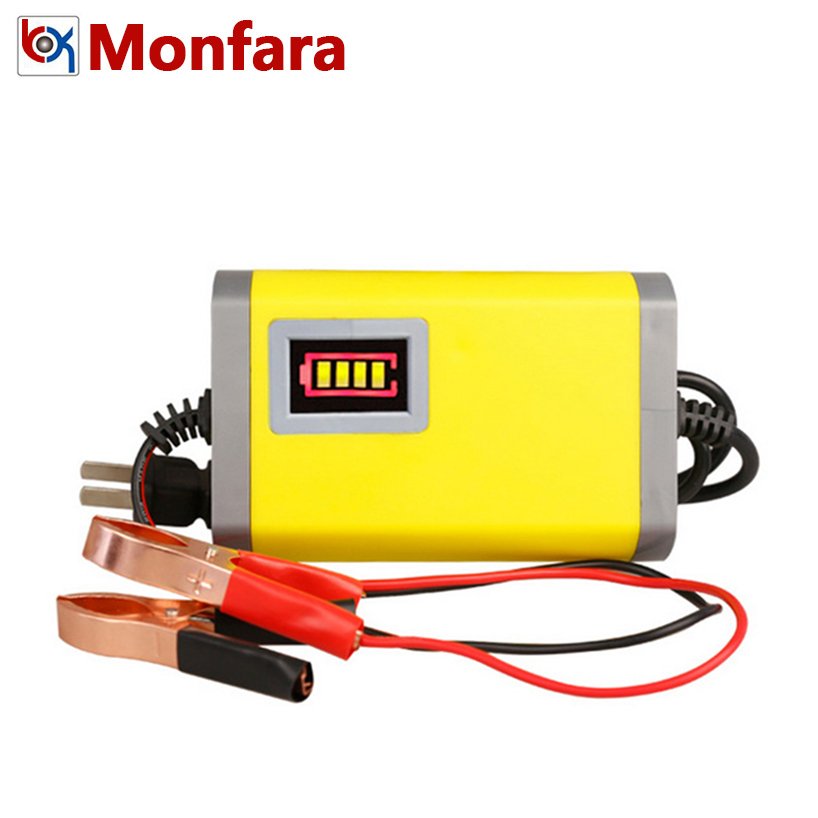 12V 2A Car Battery Charger Motorcycle Auto Moto Batteries Power Charge Adapter 12 V Volt Smart Portable Motor AGM GEL Lead Acid