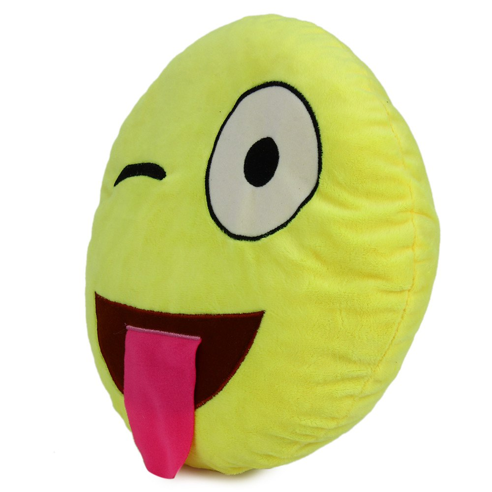 New Arrival 33cm Emoji Smiley Emotion Throw Pillow Round Throw Stuffed Plush Soft Pillow Toy Perfect GiftS for Friends & Family
