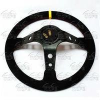 MOFE Racing SPECIAL PRICE 350mm Deep Corn Dish Black Stitch Leather Sport Racing Car JDM Original
