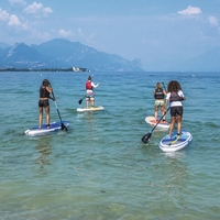 10ft Inflatable All Round SUP Stand Up Paddle Board Oceana Foldable Surf Board Wide Board For Beginner Water Sports Beach Fun