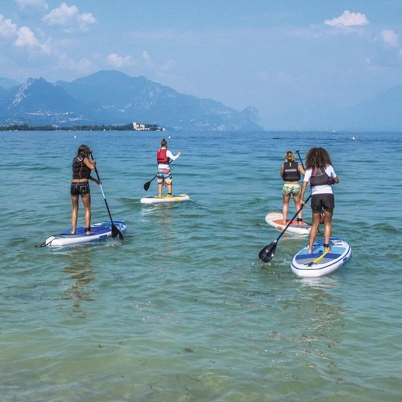 10ft gonflable tout rond SUP Stand Up Paddle Board océana pliable Surf Board large Board pour débutant Sports nautiques plage Fun