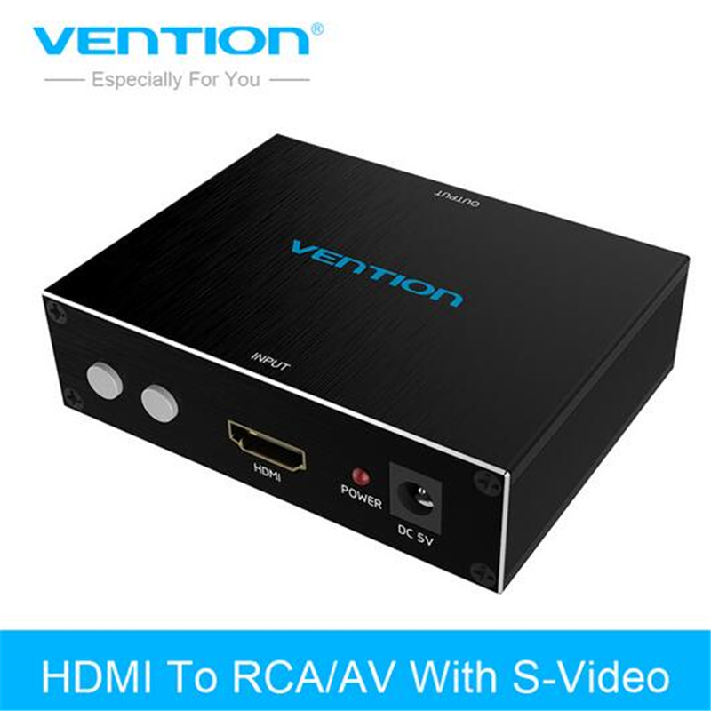 Vention HDMI To RCA/AV Adapter HDMI To AV S Video R/L Audio Converter 720P 1080P For PC PS3 Xbox HDTV VCR DVD HDMI RCA