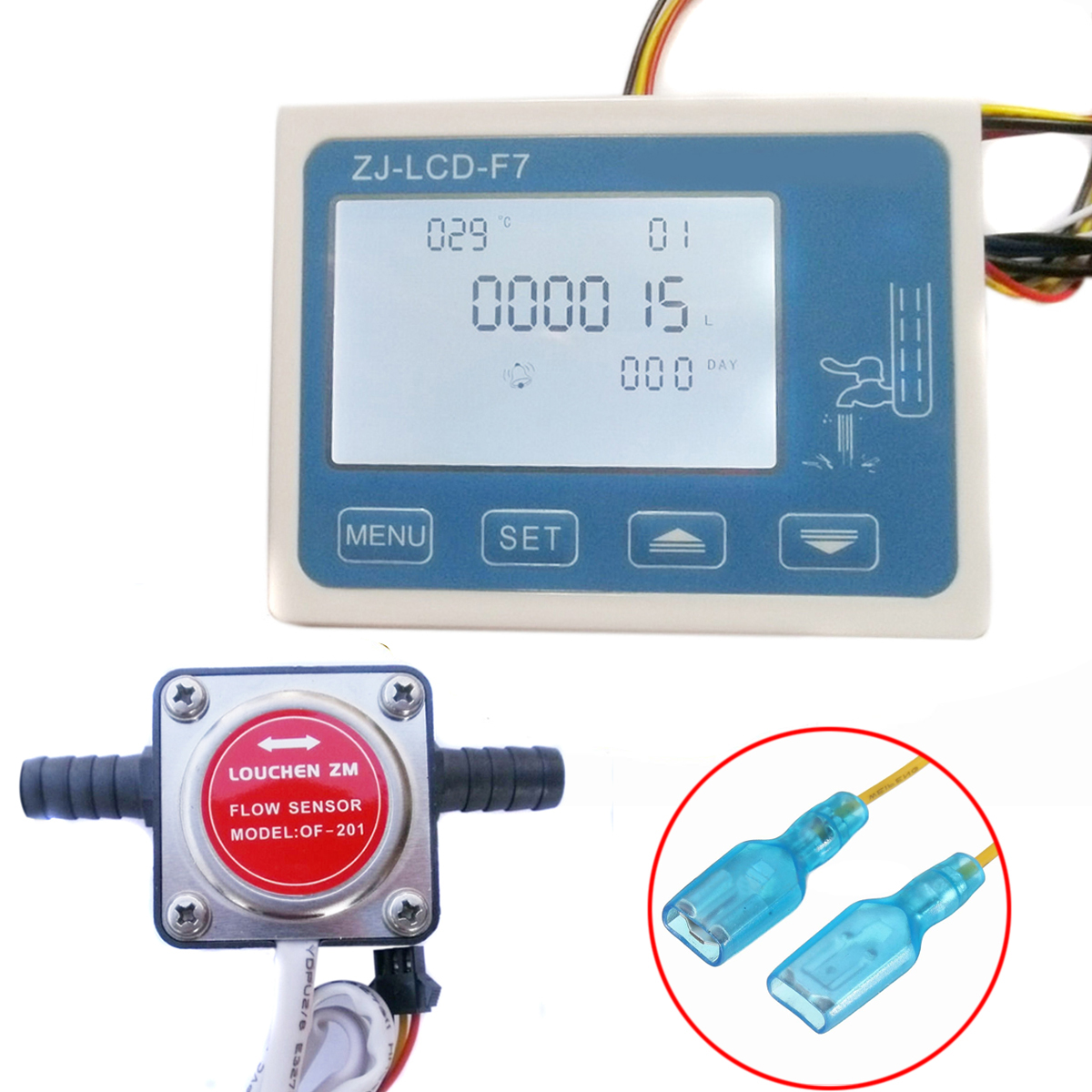 1pc LCD Digital Fuel Oil Flow Meter Flowmeter With 13mm Gasoline Gear Flow Sensor DC12-24V lcd digital fuel oil flow meter flowmeter with 13mm gasoline gear flow sensor 0 10lpm