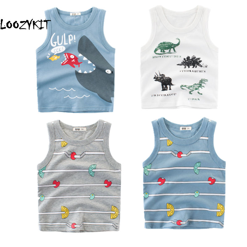 Loozykit T-Shirt Girls Tops Funny Toddler Boys Kids Child Cartoon for 2-8-Years Torridity
