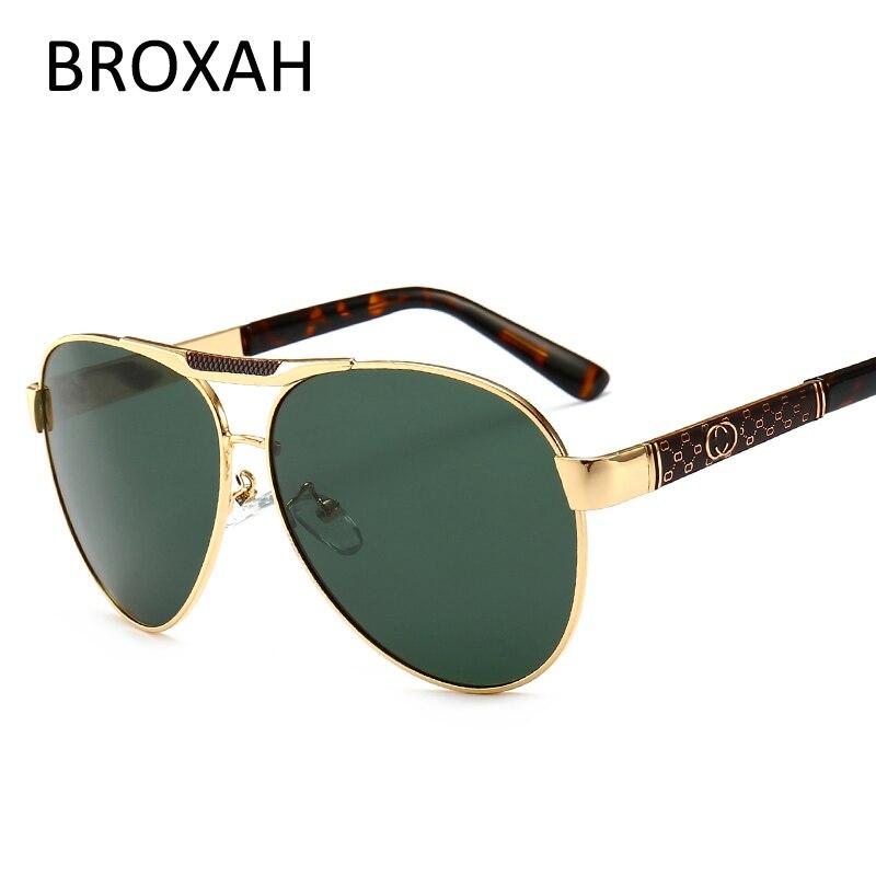 Men's Fashion Sunglasses Polarized Retro Driving Glasses Mirror Eyewear Accessories Pilot Shades UV400 Zonnebril Mannen 2802