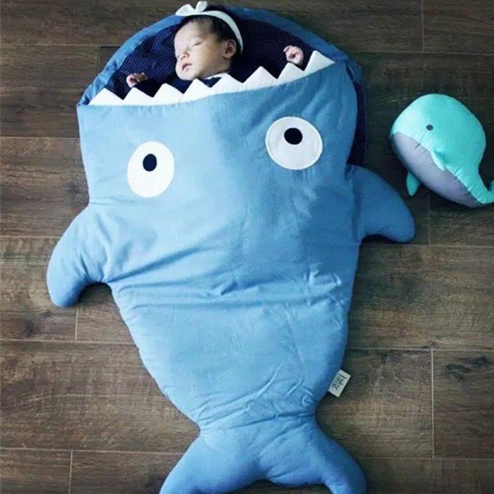 Cartoon Shark Sleeping Bag Baby Sleeping Sack Winter Strollers Bed ...