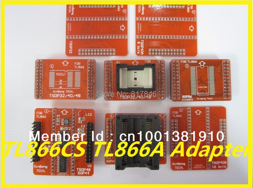 Free Shipping 100% original V3 IC Adapter for MiniPro TL866A TL866CS TL866II Plus Programmer TSOP32 TSOP40 TSOP48 SOP44 SOP56
