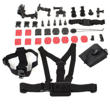 Sports Action Camera accessories 33in1 Chest Head Strap Monopod Floating Bobber Moun Set Family Kit for GoPro HD Hero 1 2 3 4