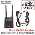 RW832 FPV 5.8G 32CH Receptor WIFI Módulo 5.8G/AV para la Transferencia de WIFI de Transmisión o a IOS/Android Smartphone Tablet