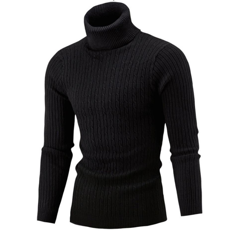 Zogaa 2019 Autumn Winter Mens Sweaters Casual Solid Color Slim Fit Knitted Pullovers Men Turtleneck Sweater Male