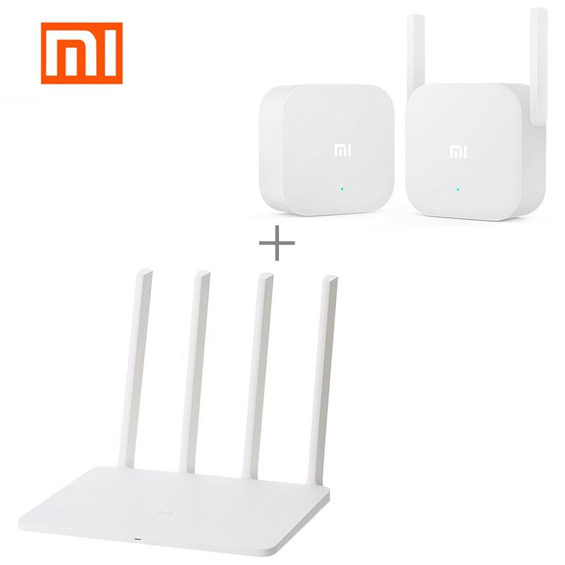 Xiaomi MI WiFi Wireless Router 3 1167Mbps WiFi Repeater 4 Antennas 2.4G/5GHz 128MB ROM Dual Band APP Control + Mi WiFi Repeater original xiaomi mi router pro wifi repeater 2533mbps 2 4g 5ghz dual band app control wifi wireless metal body mu mimo routers
